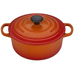 Le Creuset of America LS2501-202 Enameled Dutch Oven, 2.75 qt, Flame
