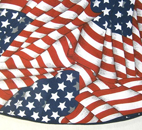 Small Tabletop Patriotic / Fourth of July Tree Skirt , 21'', U.S. Flag Pattern by Arkansewn (Image #1)