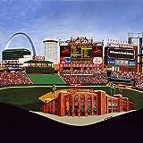 Ceramic Tile Coaster - St. Louis Baseball - Busch Stadium- St. Louis Sports Teams - Sports Team Stadium Series - Ceramic Tile - Ceramic Coaster - Decorative Art Work - St. Louis, Missouri