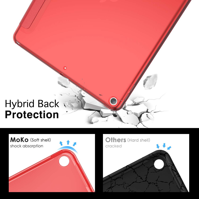 10.5 2019 MoKo Funda Compatible con New iPad Air 3rd Generation Oro Rosa Ultra Delgado Funci/ón de Soporte Protectora Plegable Cubierta Inteligente Trasera Transparente para New iPad Air 3 2019