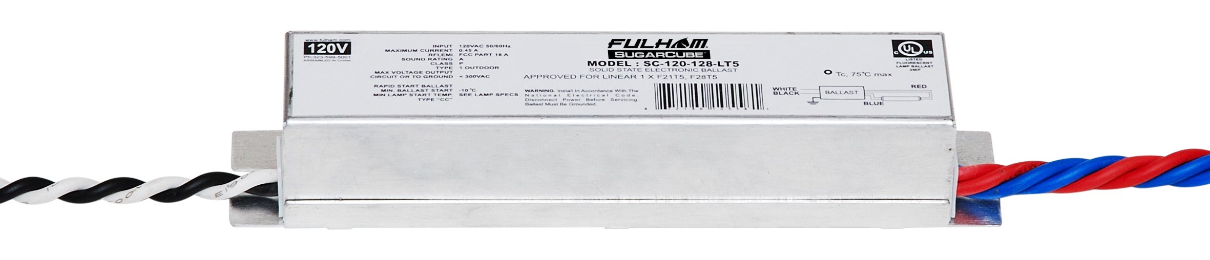 Fulham SC-120-128-LT5 Sugar Cube Ballast