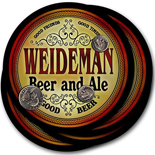 Weidemanビール& Ale – 4パックドリンクコースター   B003QX6MAA
