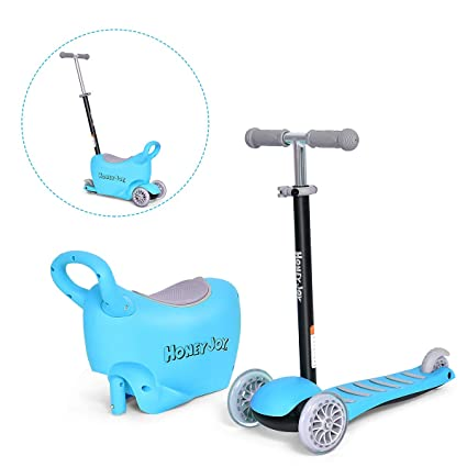 Amazon.com: Patinete 3 en 1 de Costzon con asiento y asa ...
