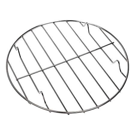 25 cm MagiDeal Universal Rund Grill Regal Rack f/ür Backen Kuchen
