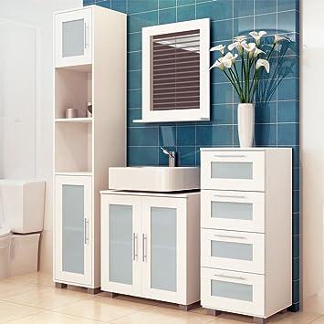 Badezimmerschrank Badezimmer Kommode Badschrank Badregal Mit 4 Schubladen
