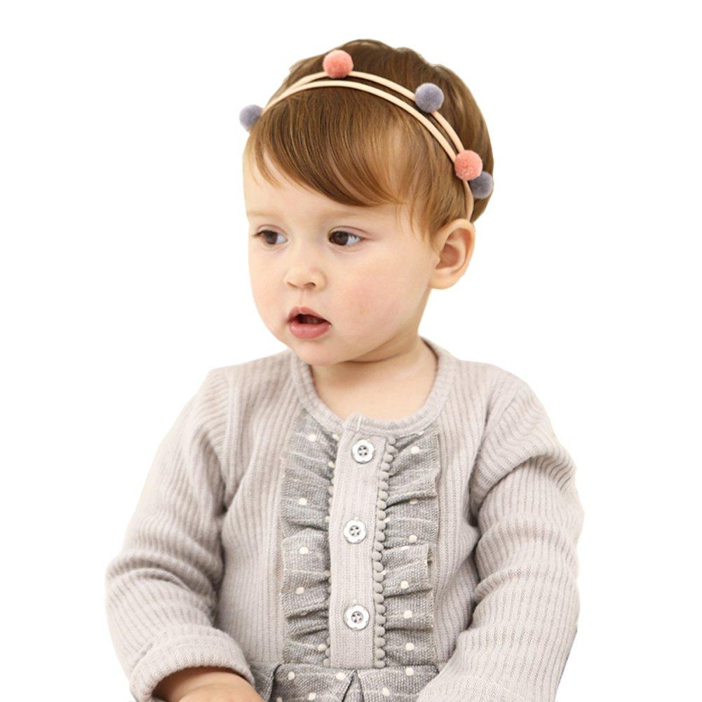 Vellette Neonata della fascia dell'involucro della testa morbida Turbante della fascia dei capelli puntelli pro foto QTGFM005BB
