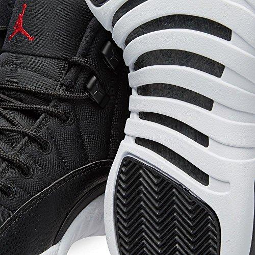 Nike Mens Air Jordan 12 Retrò In Neoprene Nero / Palestra Rosso-bianco In Pelle Taglia 10.5
