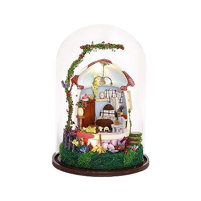 LNLW Decoración Modelo Hecho a Mano Kit DIY Cabina Bola de Cristal Bosque Tema Micro Paisaje Artesanía ( Color : 04 ): Juguetes y juegos