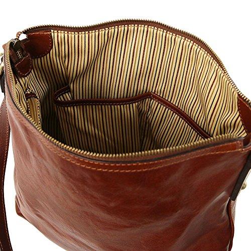 Tuscany Leather Alice - Borsa donna shopper in pelle - TL141480 (Nero) Rosso
