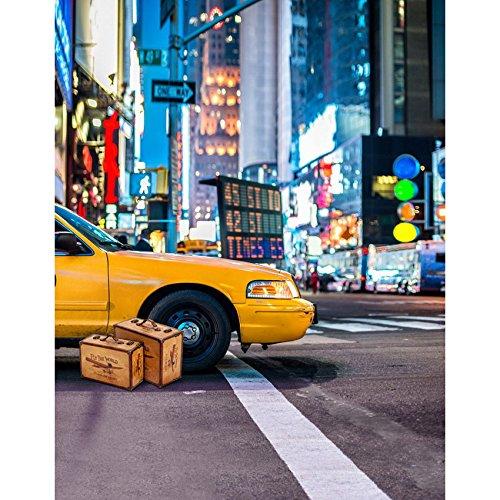 5x7ft Vinyl Digital Taxi New York City Street Photography Studio Backdrop Background