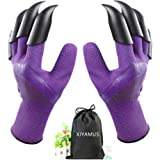 XJYAMUS Gardening Gloves, Waterproof Garden Gloves with Claw For Digging Planting, Best Gardening Gifts for Women and Men. (P