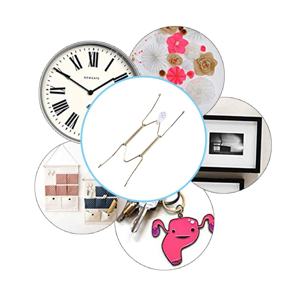 Eashome Wall Plate Hangers Stainless Steel Invisible Wall Hooks Decorative Dish Firmly Not Rusting 7.5 to 9 Inch 10 Pack