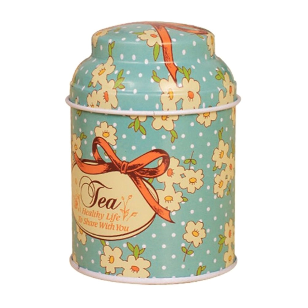 Profusion Circle Vintage Flowers Designs Tobacco Tea Tinplate Tins Sugar Candy Biscuit Tins Jar Storage Box Container Stash Can