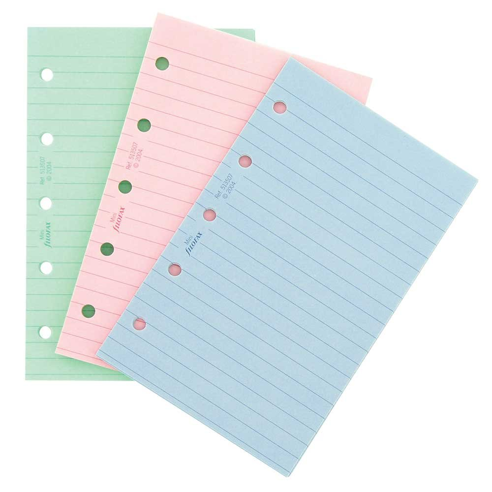 Filofax Ruled Fashion Color Notepaper B513507