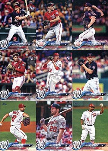2018 Topps Master (Series 1 2) Washington Nationals Team Set of 28 Cards: Jayson Werth(#28), Anthony Rendon(#36), Trea Turner(#44), Ryan Zimmerman(#58), Howie Kendrick(#83), Daniel Murphy(#105), Gio Gonzalez(#113), Raudy Read(#136), Victor Robles(#166), Erick Fedde(#217), Stephen Strasburg(#233), Andrew Stevenson(#261), Daniel Murphy(#307), Stephen Strasburg(#335), Max Scherzer(#346), Washington Nationals(#349), Bryce Harper(#351), plus more