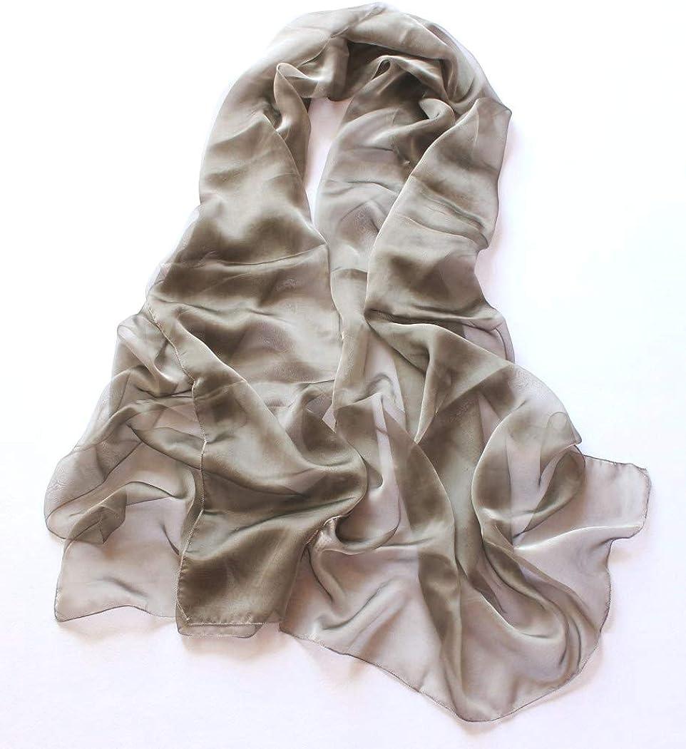 prettystern Stola Pura Seta Foulard Sfumature Bicolori Seta Donna Scialle Elegante Abito da Sera XL XXL Scelta Colori