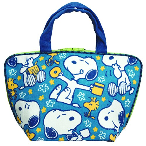 Eye up suddenly pouch lunch bag Snoopy Blue AD
