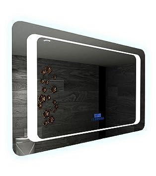 Miroir LED Salle De Bain Anti Buée Avec Bluetooth Musique Haut Parleur Et  Capteur Sensitive