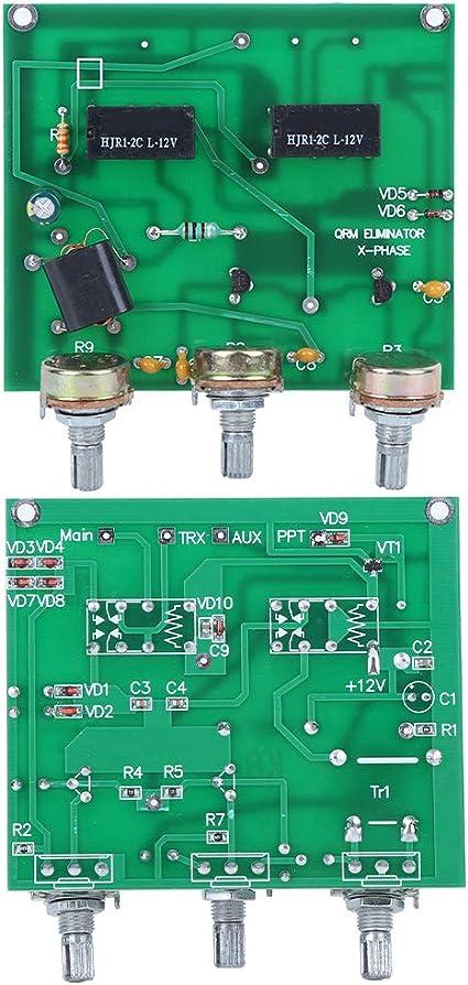 Kit Eliminador de QRM de Banda de HF, Comunicación Por Radio X-Phase Green PCB de 1-30 MHz, Piezas de Amplificador, con Control PTT Integrado, Ajuste ...