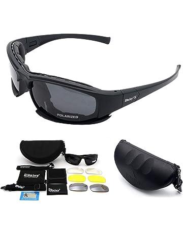 b7b124bfd0b Maso Lunettes de Soleil X7 Militaires Polarisées avec 4 Verres  Interchangeables pour Sport Course Cyclisme Ski