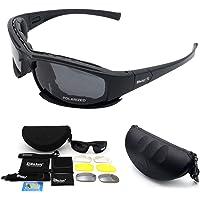 MASO Polariserade sportsolglasögon med UV 400-skydd unisex vuxen plastram polariserade sportsolglasögon sandsvart ram…