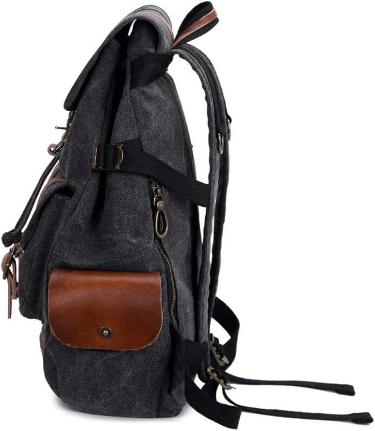 ZWNSWD WMA-Backpack Mens Leisure Tide Canvas Backpack Student Casual Diagonal Package