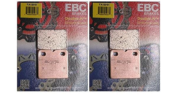 2 Packs - Enough for 2 Rotors EBC Double-H Sintered Metal Brake Pads FA188HH