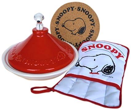 Amazon.com: Snoopy set temas (Rojo) Tajín de Snoopy Pot ...