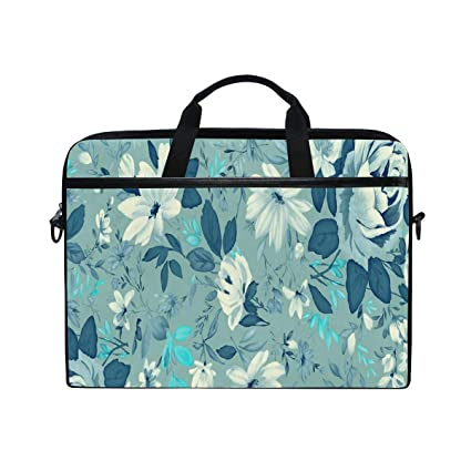 e915aa157ac8 Amazon.com: Blue Floral Picture 14-15 inch Laptop Case Computer ...