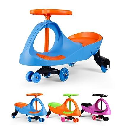 Fascol Patinete Infantil Coche Correpasillos Ruedas de Poliuretano Bicicleta sin Pedales para Niños 3 y 8 Años, Azul