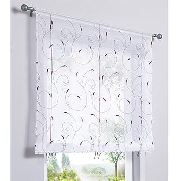 SIMPVALE 1 Stück Fenster Vorhang Stickerei Floral Gabi hoch Qualität ...