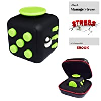 Fidget Cube Toy for Children and Adults: Stress and Anxiety Relief Reducer, Perfect Gift for Autism, Anger, ADD, ADHD & PTSD with BONUS Zipper Case