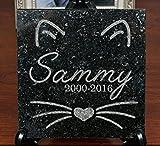 6 x 6 Engraved Granite Cat or Kitten Memorial