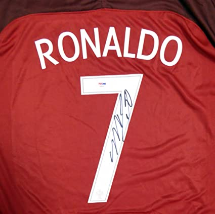 size 40 c6733 718a1 Cristiano Ronaldo Autographed Portugal Nike Authentic Red ...