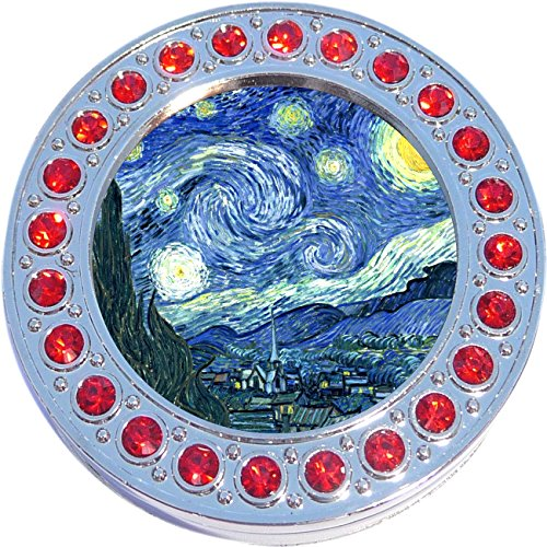 Red Accent Starry Night Photo Purse Hanger Handbag Table Hook