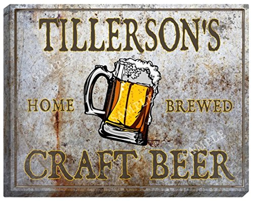 TILLERSON'S Craft Beer Stretched Canvas Sign