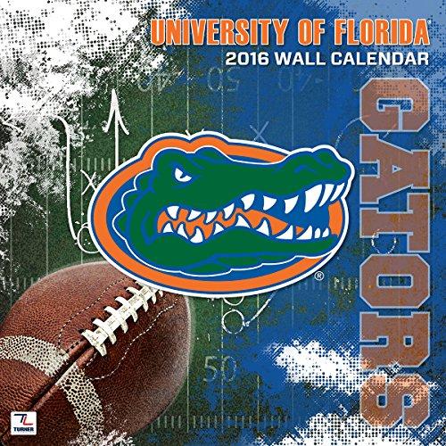 "Turner Florida Gators 2016 Mini Wall Calendar, September 2015-December 2016, 7 x 7"" (8040520)"