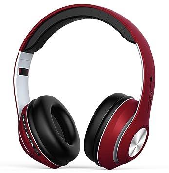 Auriculares Inalámbrico Diadema Over-ear, Cascos Bluetooth 4.2 Pleagable con Micrófono Manos Libres, Auriculares Cerrados Reduccion Ruido, Hi-Fi ...