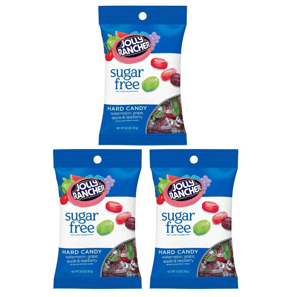 Hard Candy, Assorted Flavors, Sugar-Free, 3.6 Ounce Bag (Pack of 12)