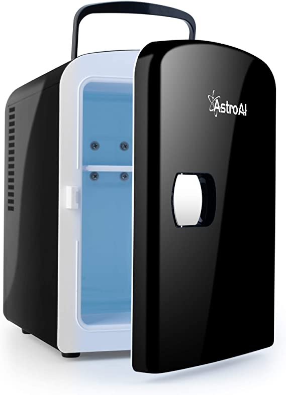 AstroAI Mini Fridge 4 Liter 6 Can AC DC Porta