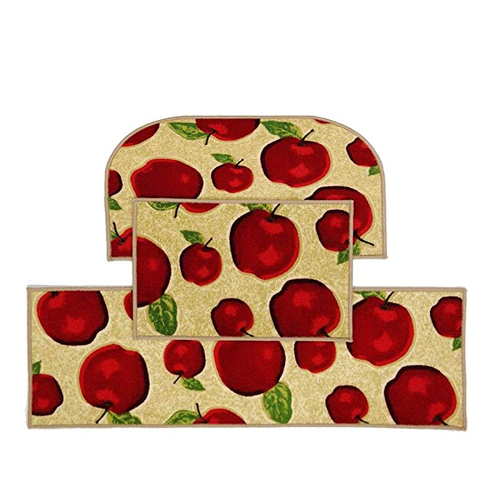Top 9 Kitchen Apple Rugs Non Skidp