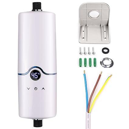 Calentador de agua sin tanque eléctrico instantáneo caliente de 240V 4 niveles de poder (5.5