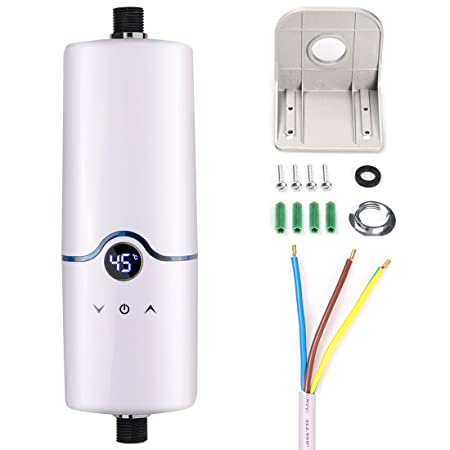 240V Instant Electric Hot Tankless Water Heater 4 Power Levels (5.5 ...