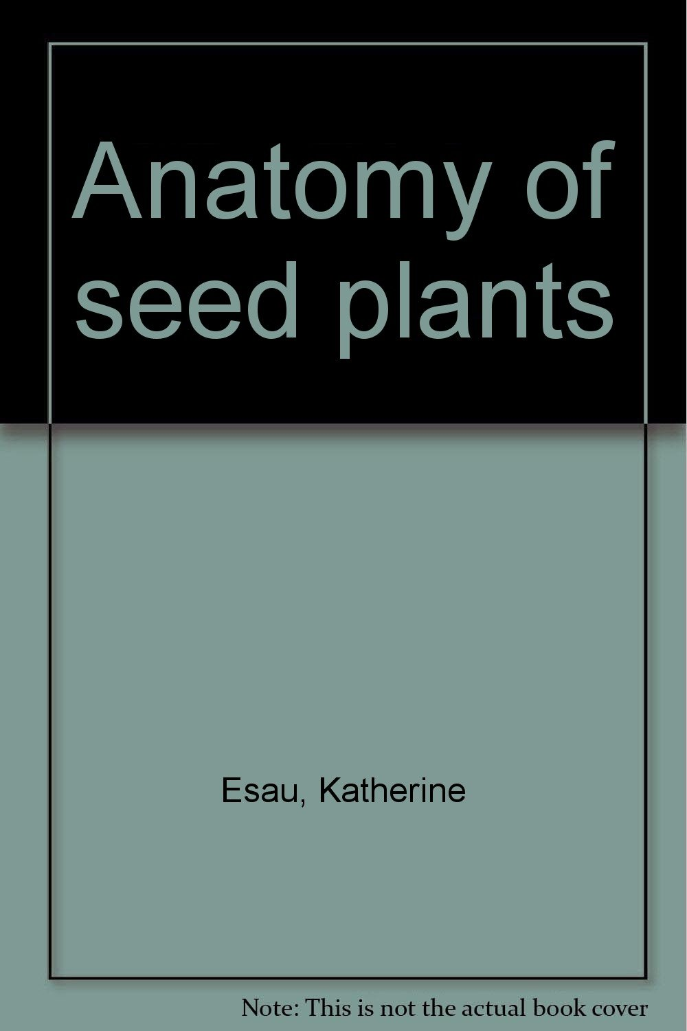 Anatomy Of Seed Plants Katherine Esau Amazon Books