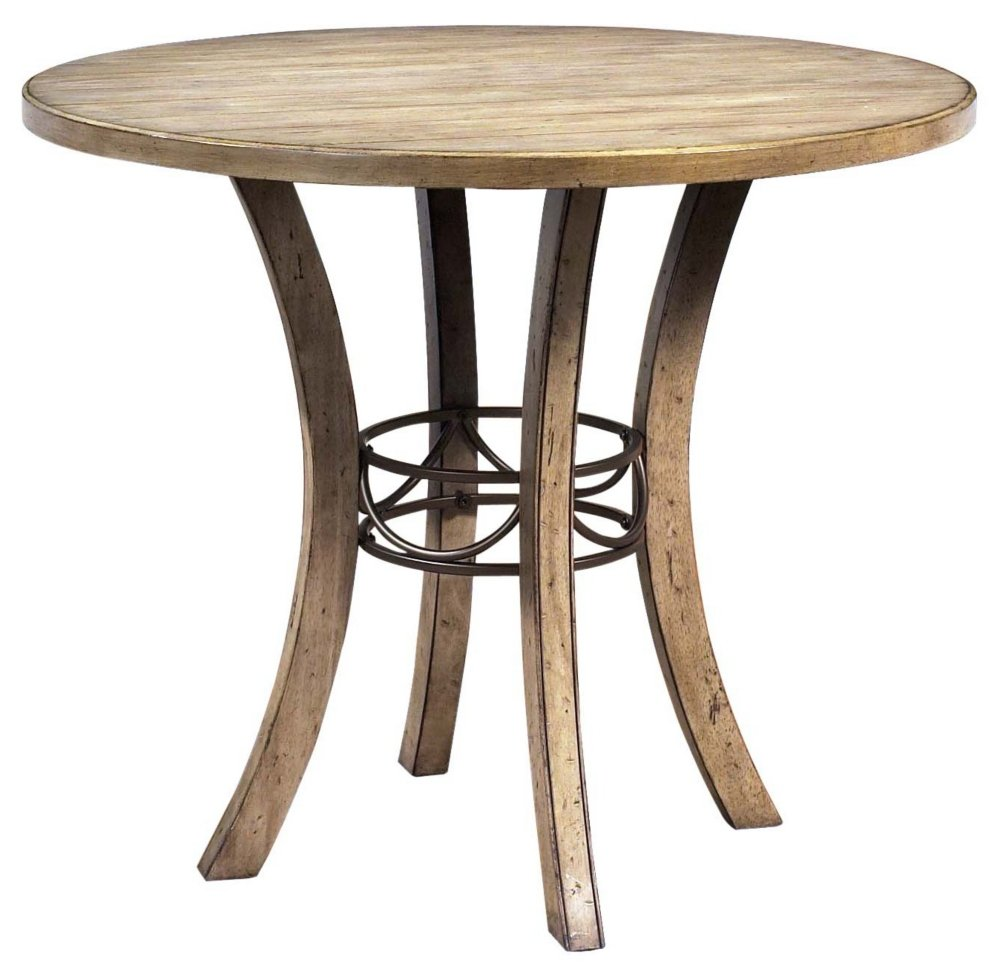 amazoncom round wood counter height table tables - Dining Table Round Wood