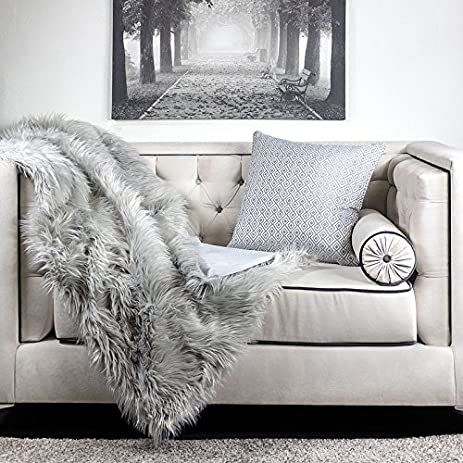 Homey Cozy Crow Heavy Long Fur Throw Blanket, Fluffy Faux Fur Woolen Soft  Shaggy Fleece