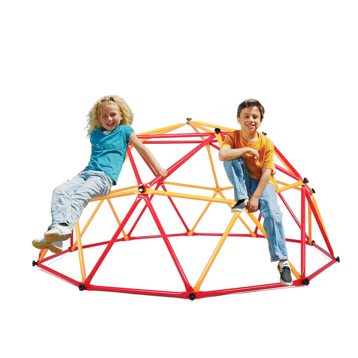 JAXPETY Outdoor Dome Climber Playground Children Kid Swing Set Climbing Frame Backyard Gym by JAXPETY