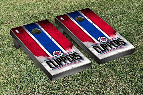 Los Angeles LA Clippers NBA Basketball Cornhole Game Set Vintage Version by Victory Tailgate