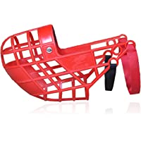 Dog Muzzle Breathable and Lightweight Dog Mouth Guard Adjustable Training and Transport Muzzle,Red