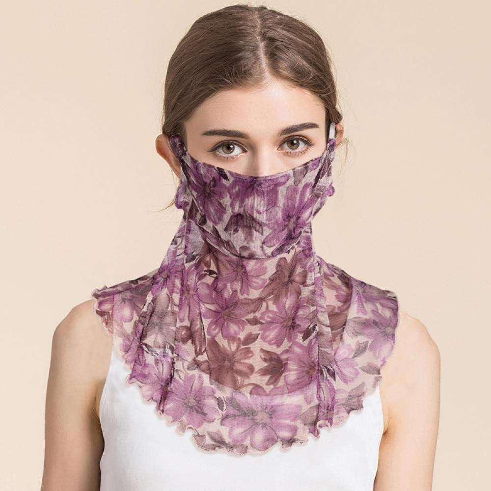 Vitila Multifunktional Atmungsaktives Halsw/ärmer Frauen Kopftuch Seide Damen Scarf f/ür Sommer zum Laufen Deportiert Outdoor